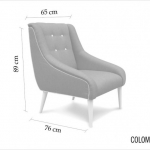COLOMBIA Orchid | armchair